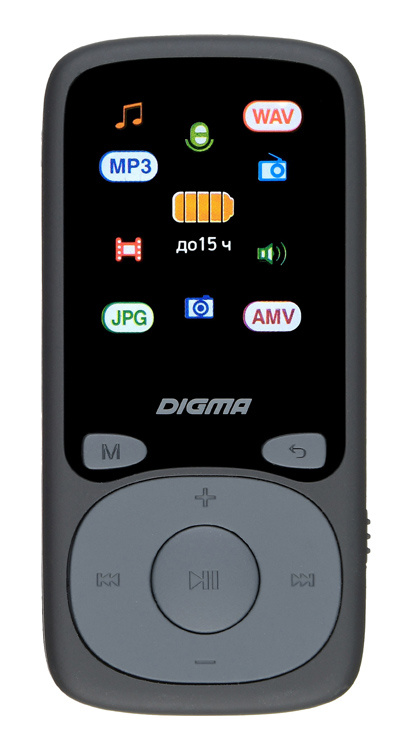 "Плеер Hi-Fi Flash Digma B4 8Gb черный/1.8""/FM/microSDHC - интернет-магазин Skyey.ru"