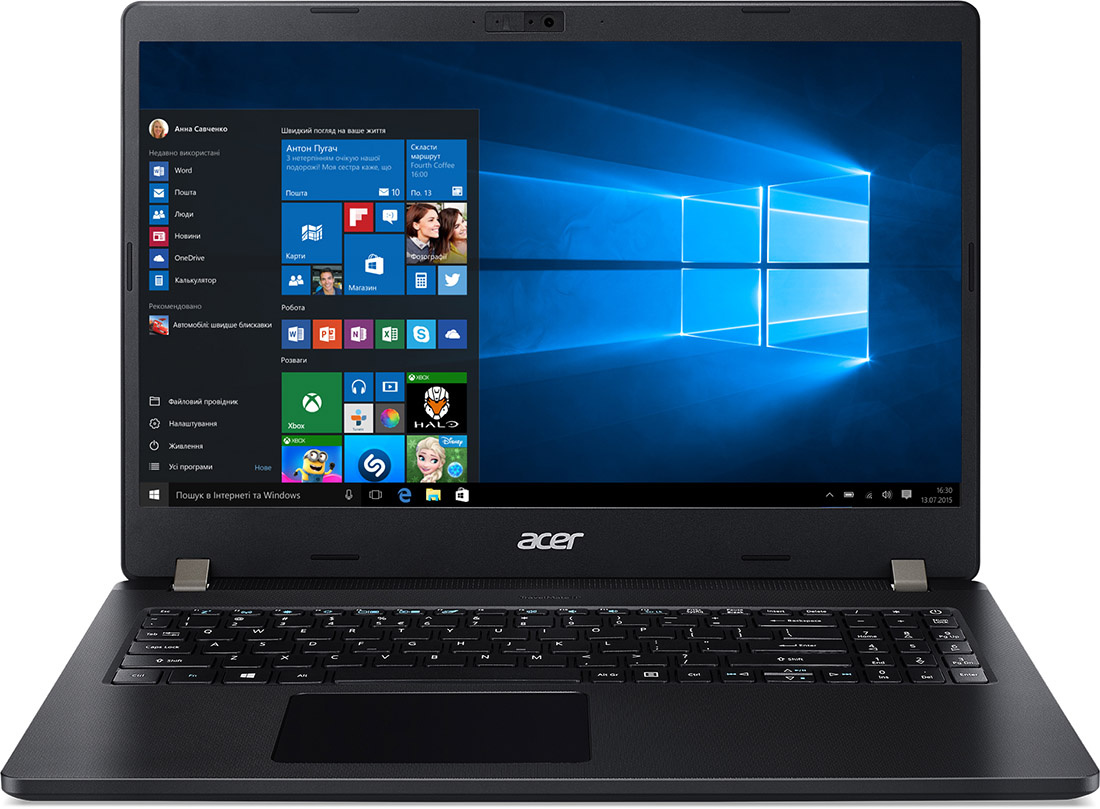 Ноутбук Acer TMP215-52-35RG TravelMate 15.6'' FHD(1920x1080) IPS nonGLARE/Intel Core i3-10110U 2.10GHz Dual/8 GB+256GB SSD/Integrated/WiFi/BT5.0/1 MP/SD,SDXC,SDHC/Fingerprint/3cell/1,8 kg/W10Pro/3Y/BLACK - интернет-магазин Skyey.ru