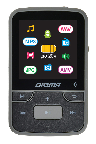"Плеер Hi-Fi Flash Digma Z4 BT 16Gb черный/1.5""/FM/microSDHC/clip - интернет-магазин Skyey.ru"