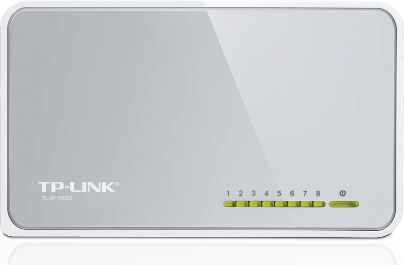 TP-Link TL-SF1008D Коммутатор 8-port 10/100M mini Desktop Switch, 8 10/100M, Plastic case - интернет-магазин Skyey.ru