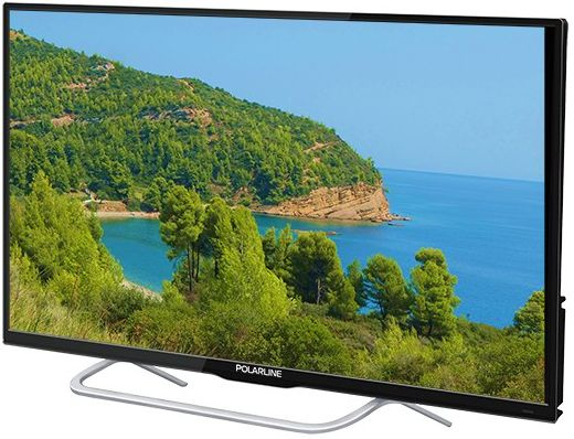 "Телевизор LED PolarLine 32"" 32PL14TC-SM черный/HD READY/50Hz/DVB-T/DVB-T2/DVB-C/USB/WiFi/Smart TV (RUS) - интернет-магазин Skyey.ru"