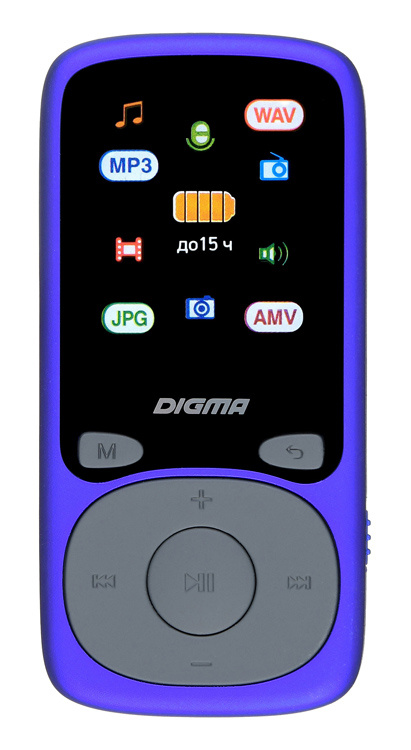 "Плеер Hi-Fi Flash Digma B4 8Gb синий/1.8""/FM/microSDHC - интернет-магазин Skyey.ru"